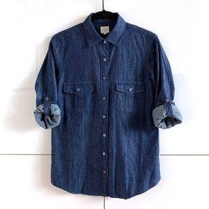 🆕 NWT J. Crew Chambray Cotton Shirt